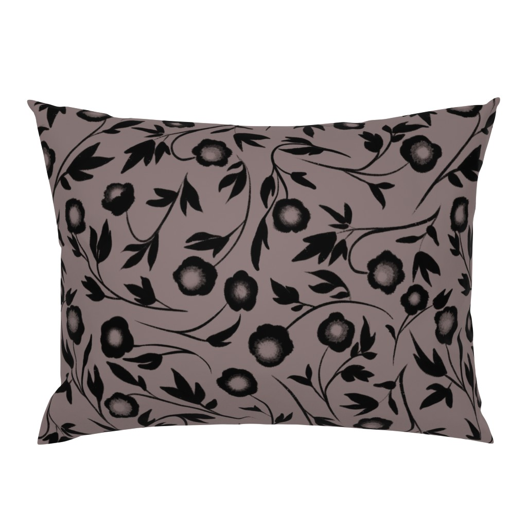Campine Pillow Sham featuring Peonias by karina_love