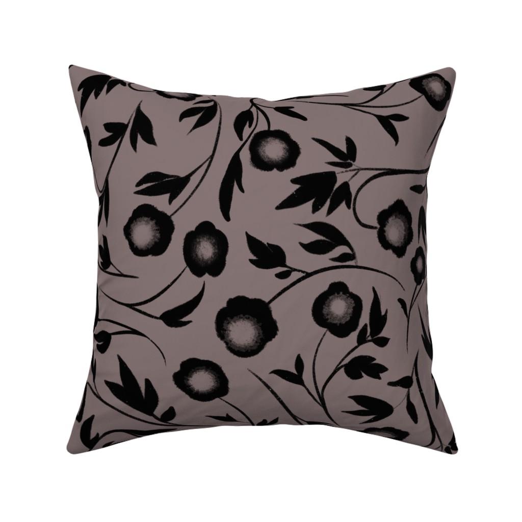Catalan Throw Pillow featuring Peonias by karina_love