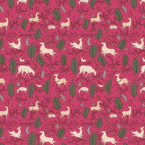 The Running of the Deer - Pink