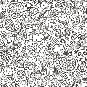 Kawaii, Schmetterling, Pilz, Tiere, Eis, Regenbogen