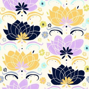 Pastel & Navy Floral  - Small