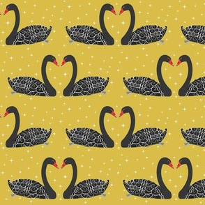 Black swan , starburst retro mustard