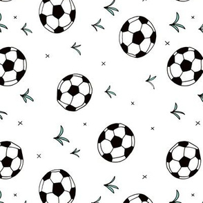 Soccer ball fun sports illustration design grass boys white rotated