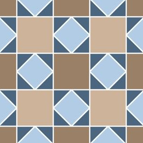 07919904 : square triangle tiles : stone
