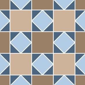 07919904 : square triangle tiles : stone