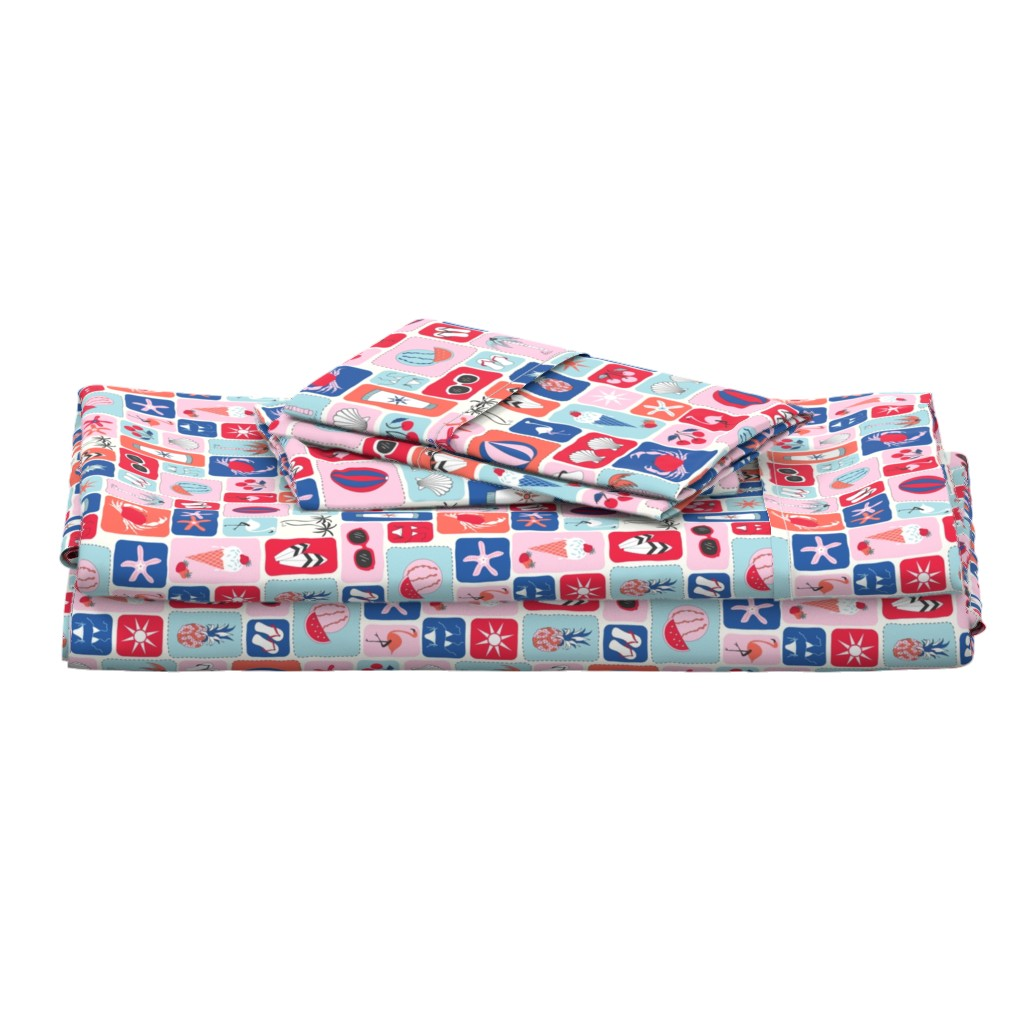 Langshan Full Bed Set featuring summertime by vivdesign
