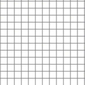 Small Scale Gray White Grid Gingham Pattern