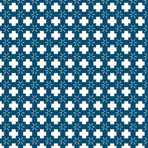 Small Scale Plus Sign Navy Fall Pattern