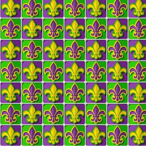 Mardis Gras Fleur de Lyse Patchwork