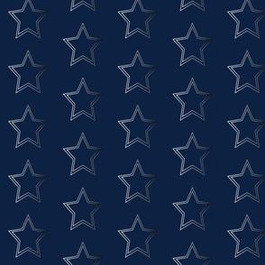 dallas cowboys silver star on navy texas football nfl