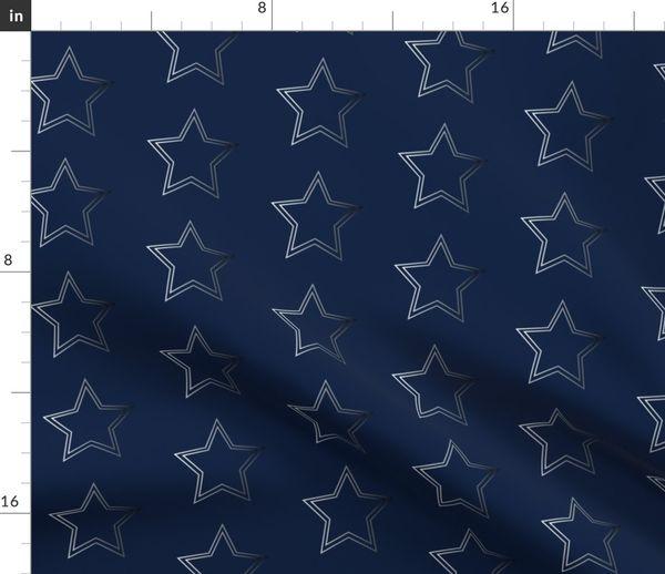Dallas Cowboys Silver Star On Navy Texas Spoonflower