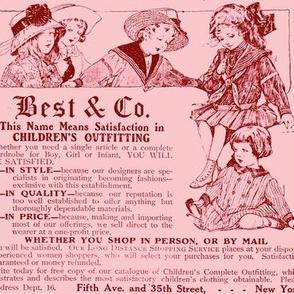 1910 Childrens Outfitting Adverisemen