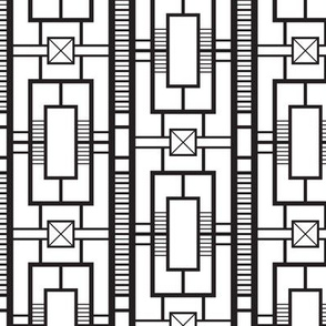 Deco Ironwork (Black and White)