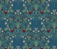 Victorian Strawberrries - blue