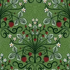 Victorian strawberries (green)