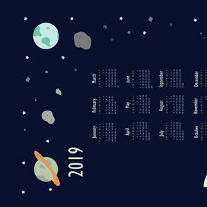 2019 Outer Space Calendar