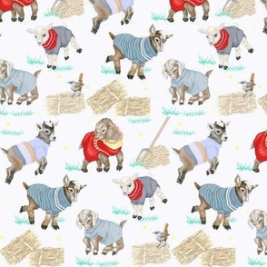 Goats In Sweaters Getting Wild - Small