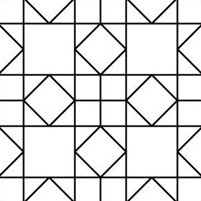 07922853 : square triangle tiles : outline