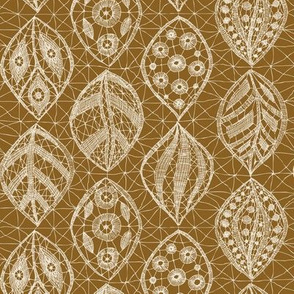 Lace Leaves - Natural, Toffee