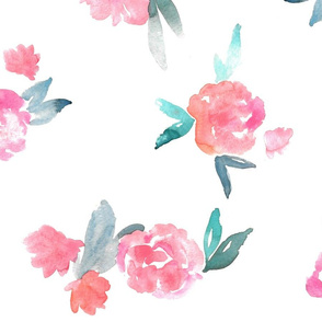 Loose Watercolor Floral - large scale