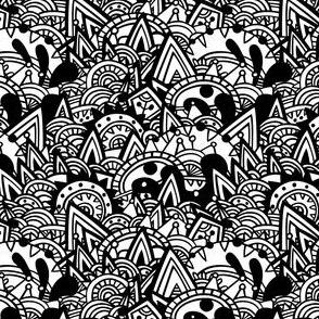Mayan Fantasy / black & white