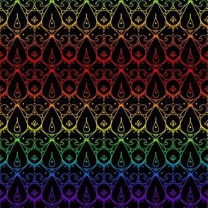 Cindi Lace Rainbow on Black