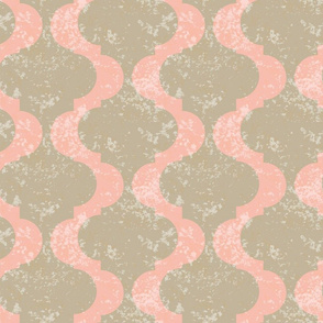 18-05B Jumbo Coral Whole Cloth Peach Tan Taupe Large Scale  Cheater Quilt _ Miss Chiff Designs