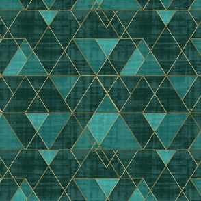 Mod Triangles Emerald Teal