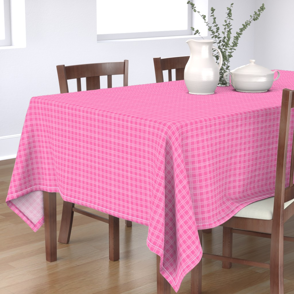 Bantam Rectangular Tablecloth featuring Pink Plaid, Elegant Holiday, small by palifino