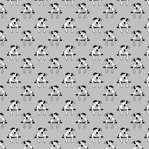 Pit Bull T-Bone Graphic Grey Small