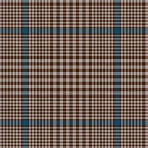 """Prince of Wales check #2, 5"""" repeat, brown/blue/taupe"""
