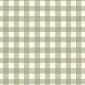 "Olive Green on Cream Off White Check Gingham Plaid Traditional 1/2"" Squares _ Miss Chiff Designs"