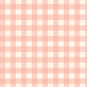 Traditional Classic Check Peach