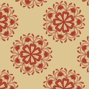Mandala Flowers (Red)