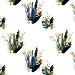 "5"" Tropical Desert Cactus // White"
