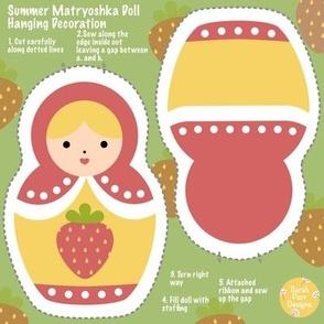 Cut & Sew Swatch Summer Matryoshka