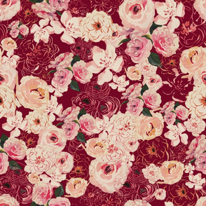 PEONY FLORAL PATTERN