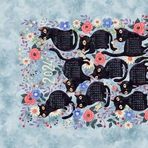 cat-calendar-teatowel-blue