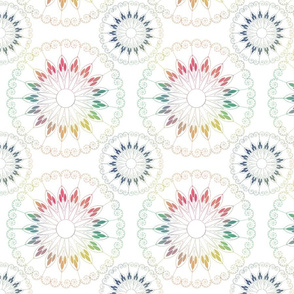 watercolor stylized flower pattern