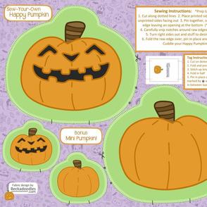 Sew Your Own Halloween Pumpkin Pillow