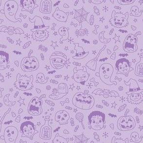 Halloween Doodles on Purple