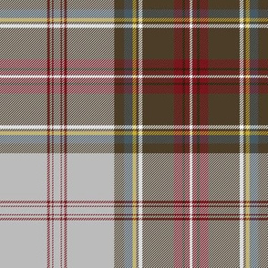 "Stewart/Stuart tartan #4, 8"" grey ground"