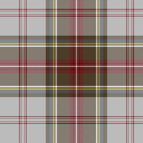 "Stewart/Stuart tartan #4, 6"" grey ground"