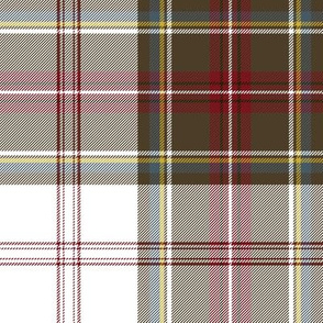 "Stewart/Stuart tartan #4, 8"" white ground"