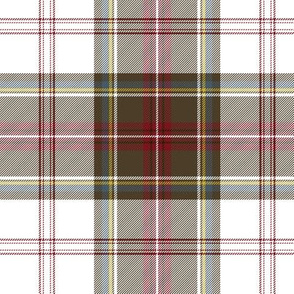 "Stewart/Stuart tartan #4, 6"" white ground"