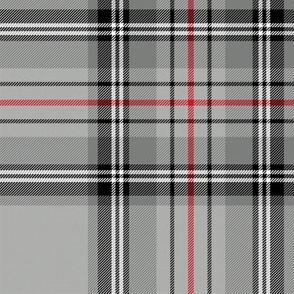 "Glen Moy tartan, red stripe, 8"""