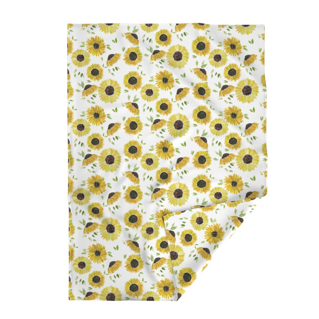 Lakenvelder Throw Blanket featuring sunflowers by rosemaryanndesigns