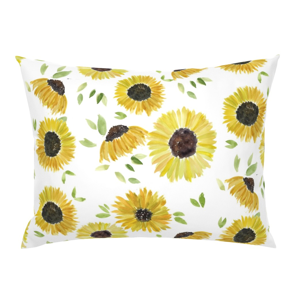 Campine Pillow Sham featuring sunflowers by rosemaryanndesigns