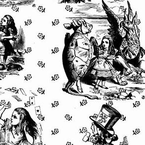 Alice toile black and white