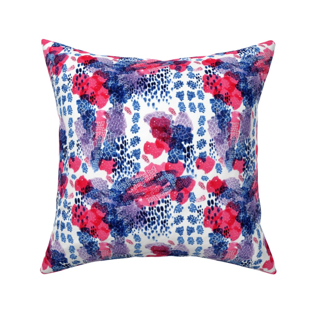 Catalan Throw Pillow featuring Raining Berries by nicoletlaursen